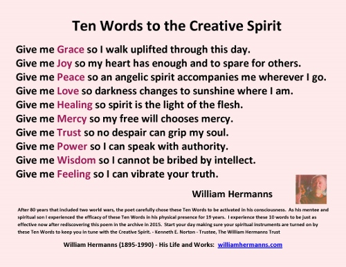 Ten words the Creative Spriit by William Hermanns