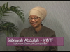 Sabryyah Abdullah on Women's Spaces Show filmed 8/31/2012