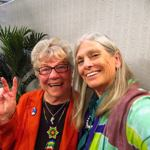 Elaine B. Holtz and Connie Baxter Marlow on Women's Spaces TV Show - photo by CB Marlow