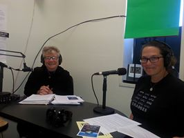Host Elaine B. Holtz and Maggie Hohle on Women's Spaces Radio KBBF