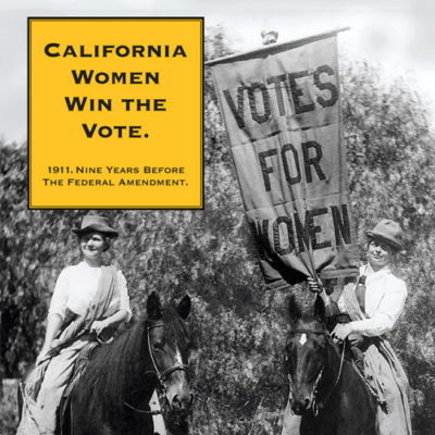 California Women win the right to vote